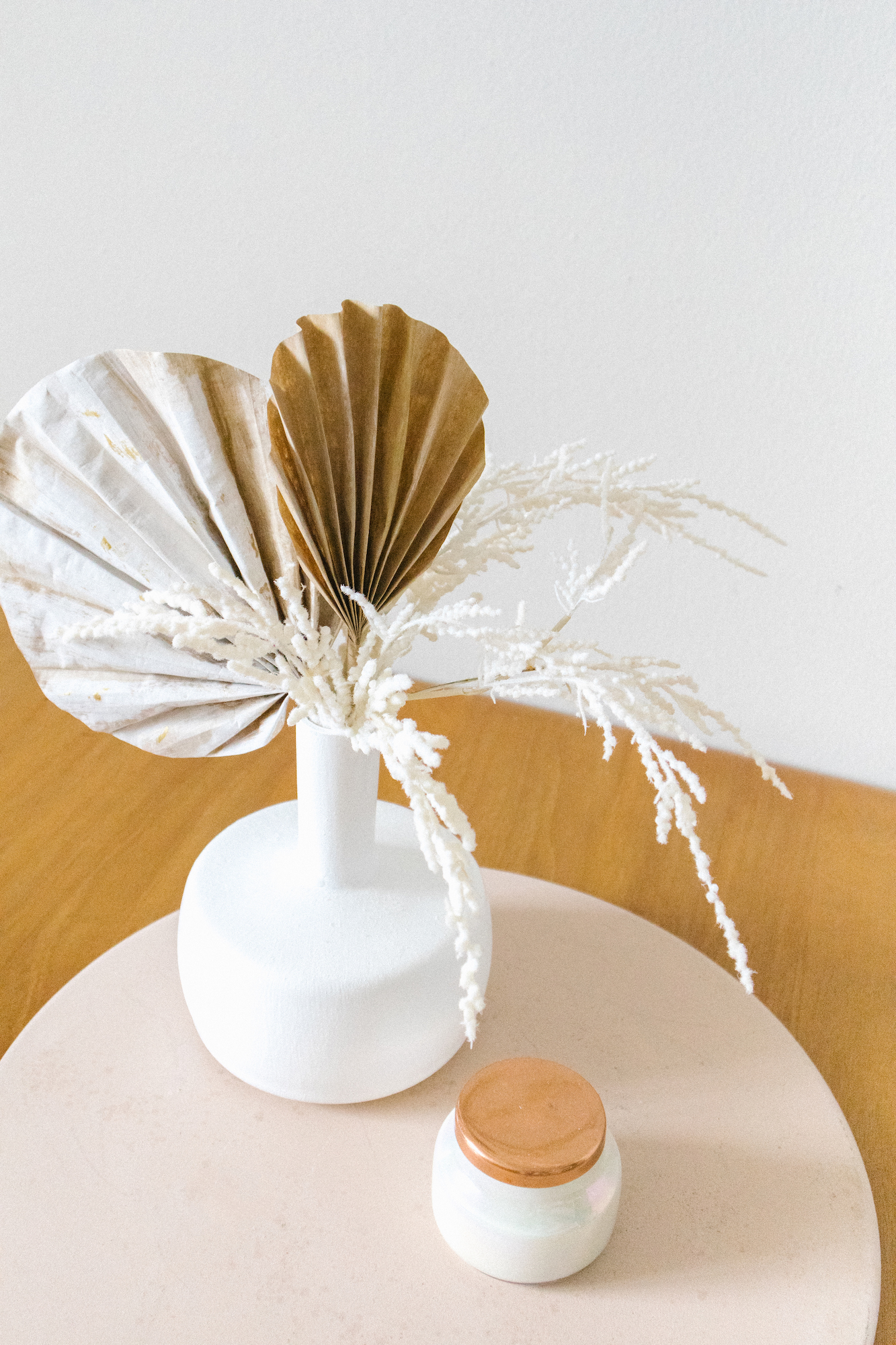 Diy Dried Palm Fronds Gilded Stork