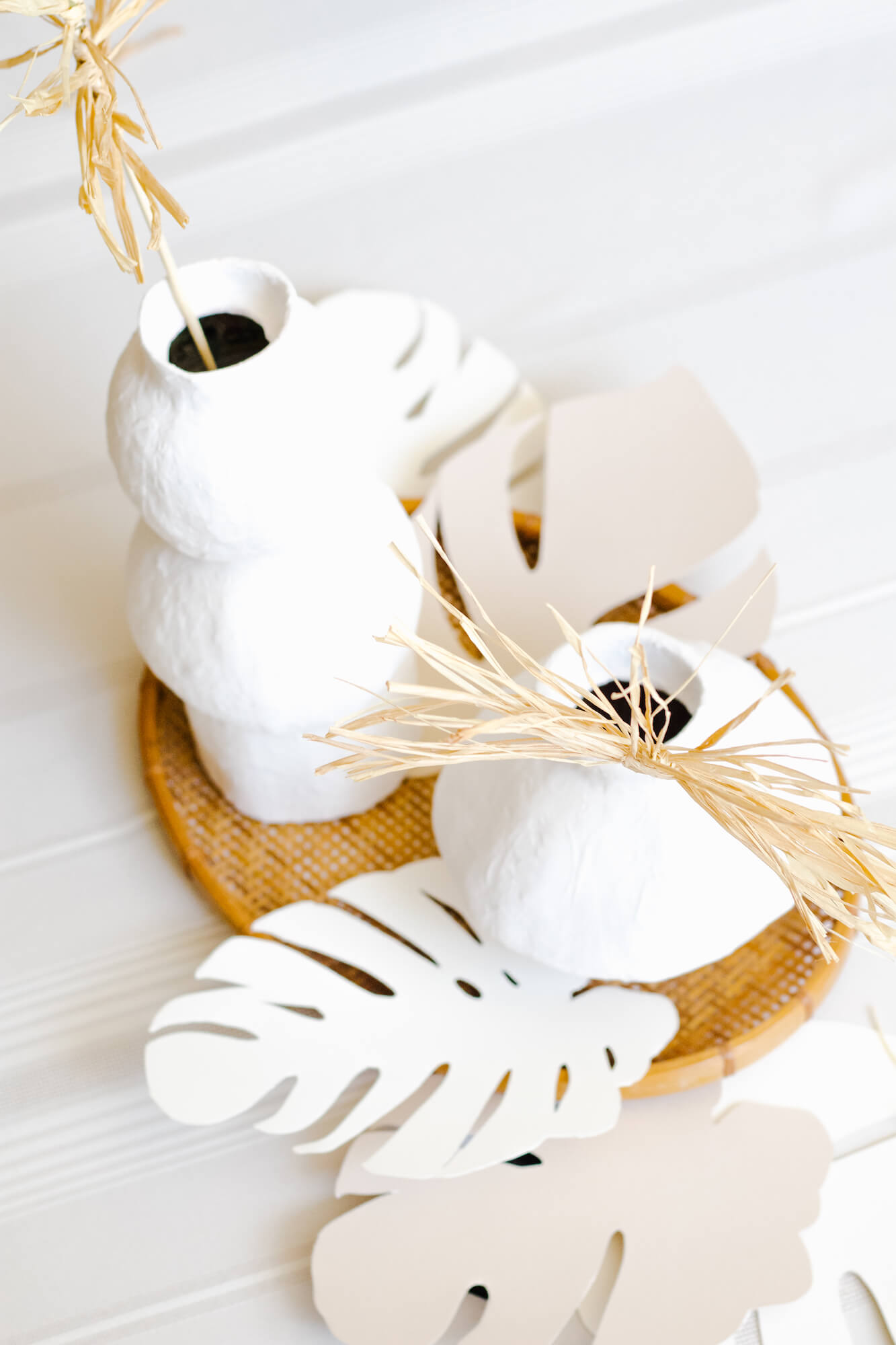 How to Make Boho Dried Raffia Palm Fronds to Accent Your Home