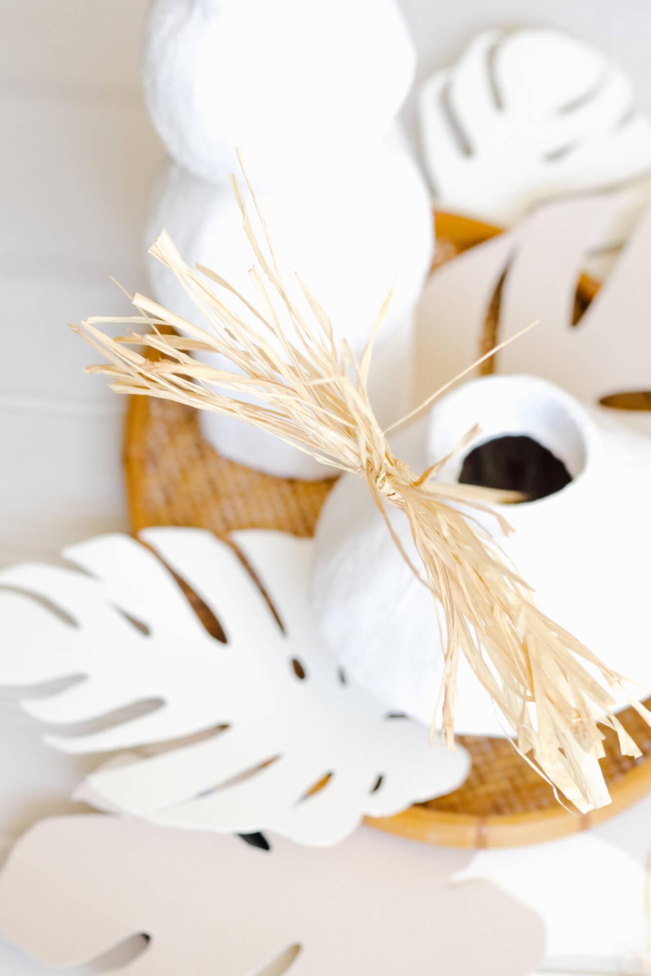 How to Make Dried Raffia Palm Fronds