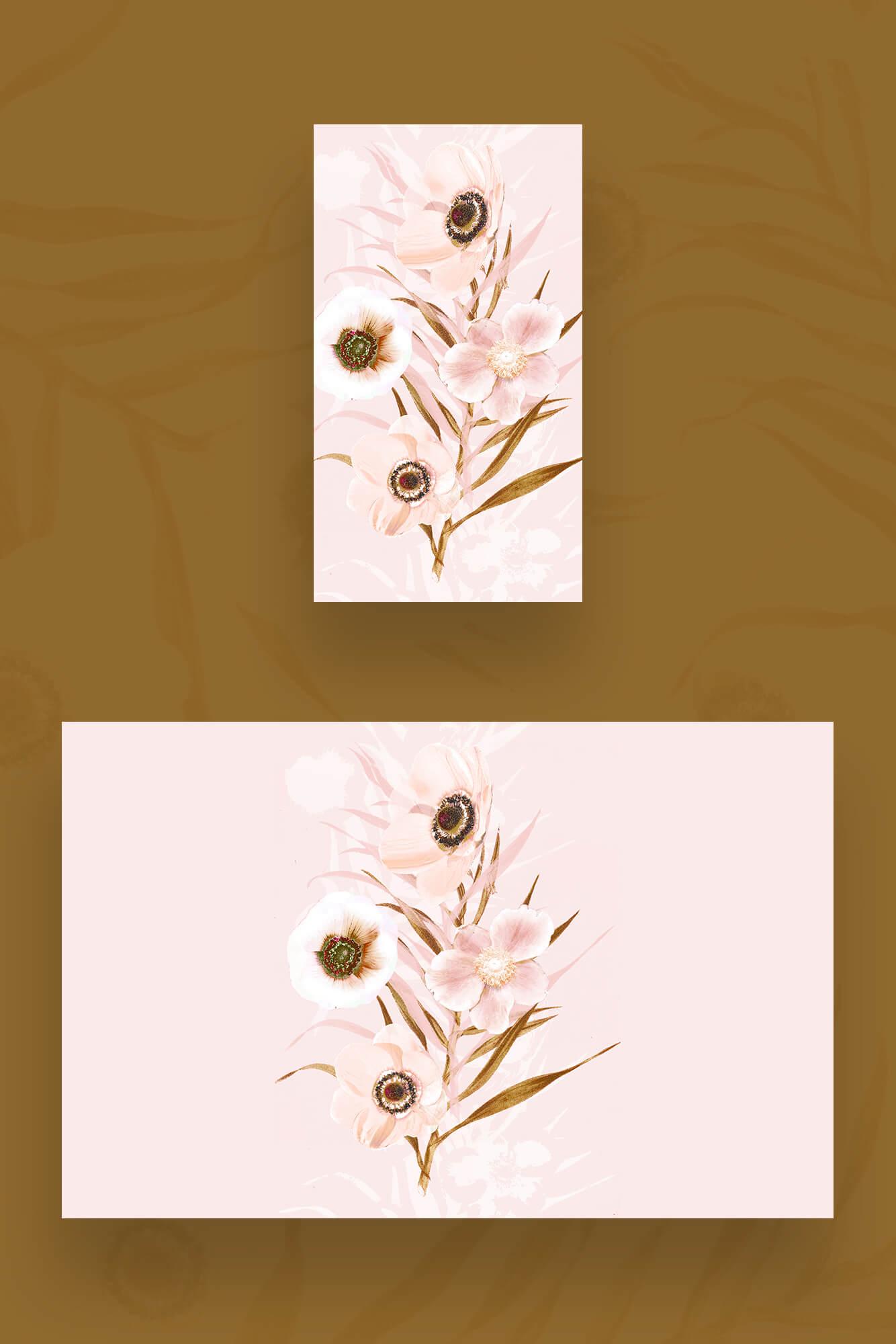 Free Summer Floral Digital Wallpaper