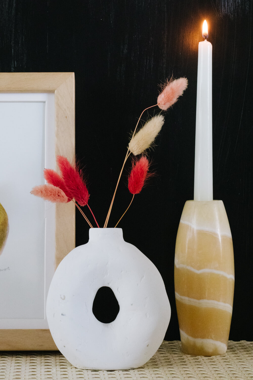 Modern Circle Vase with Paper Mache Clay