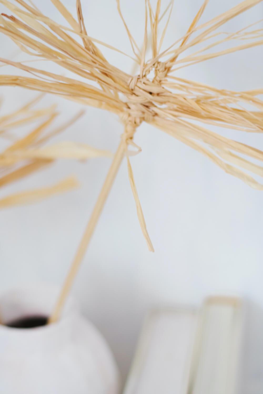 DIY Rafia Palm Fronds