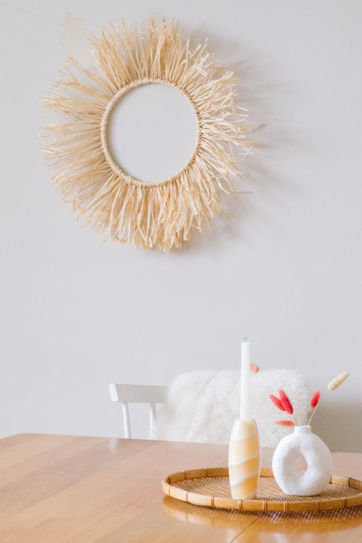 DIY Modern Decor - DIY Boho Raffia Wreath