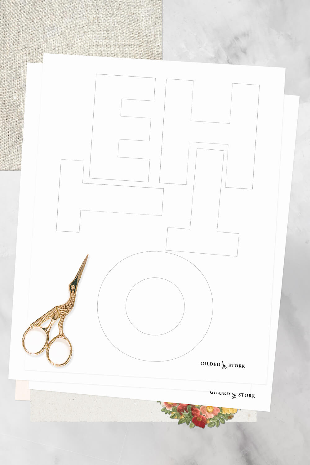 download the free Cricut SVG file or printable PDF for hand cutting