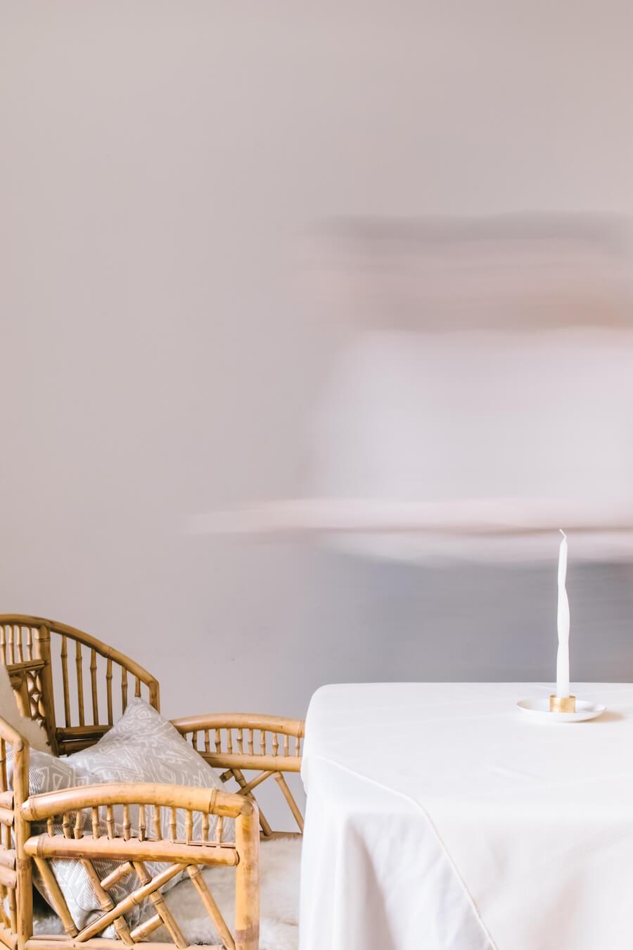 Modern DIY decor spiral candles