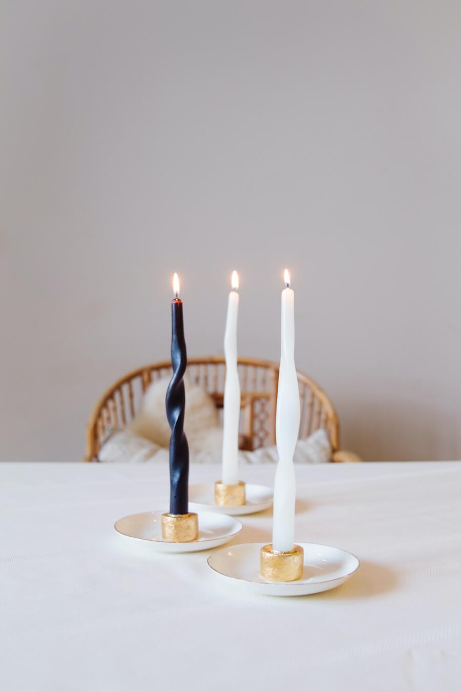TikTok Twisted Spiral Candles